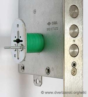 Накладка цилиндра замка чиза