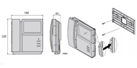 видеодомофон dpv 4pf2 инструкции по монтажу